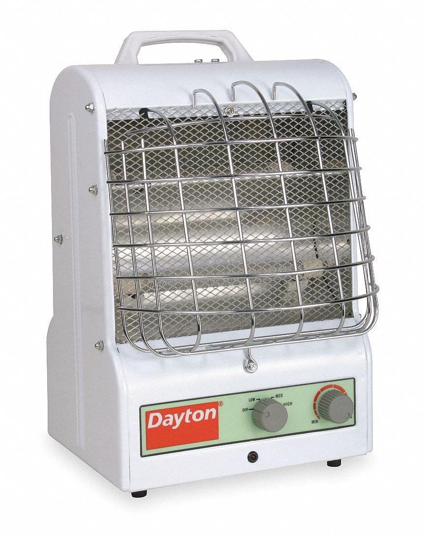 Dayton 0 6kw 0 9kw 1 5kw Portable Electric Jobsite Garage Heater 120v Ac 1 Phase 5 15p 3vu31 3vu31 Grainger