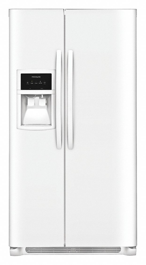 FRIGIDAIRE Refrigerator and Freezer, Residential, Pearl