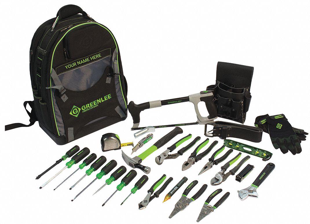 GREENLEE 28PC Electricians Tool Kit  416J63015928BKPK