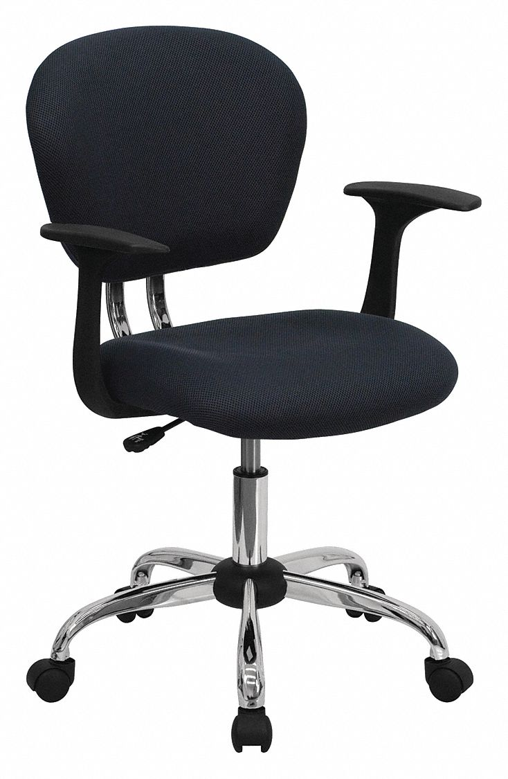 mesh task chair bedroom light grey flash furniture gray 17 back height arm style adjustable