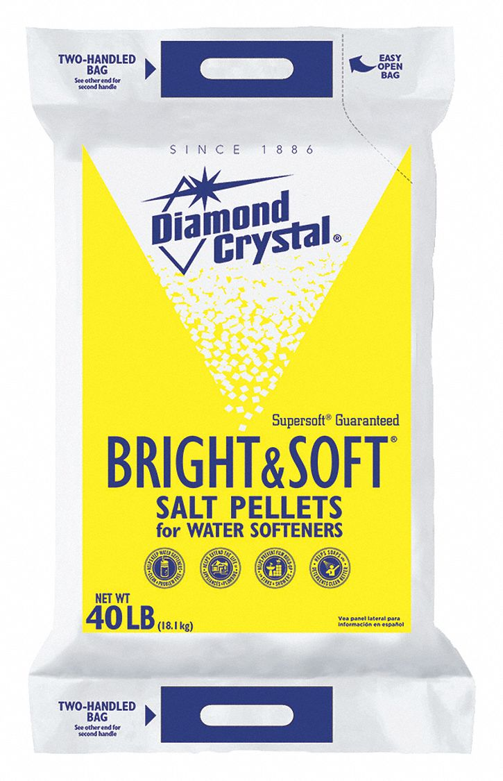 DIAMOND CRYSTAL 40 lb Water Softener Salt Bright  Soft