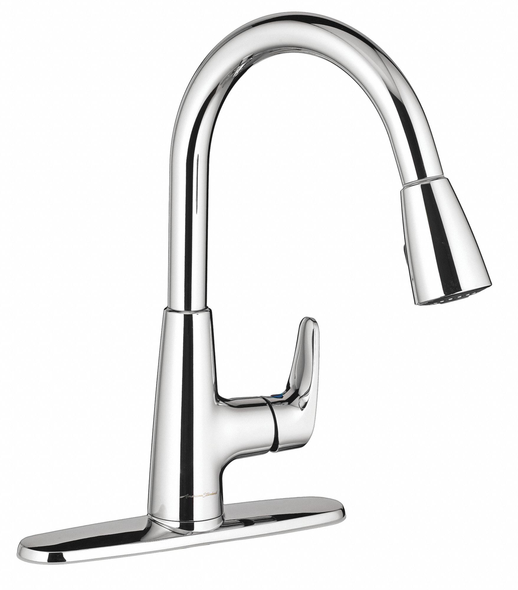 chrome gooseneck kitchen sink faucet manual faucet activation 1 5 gpm