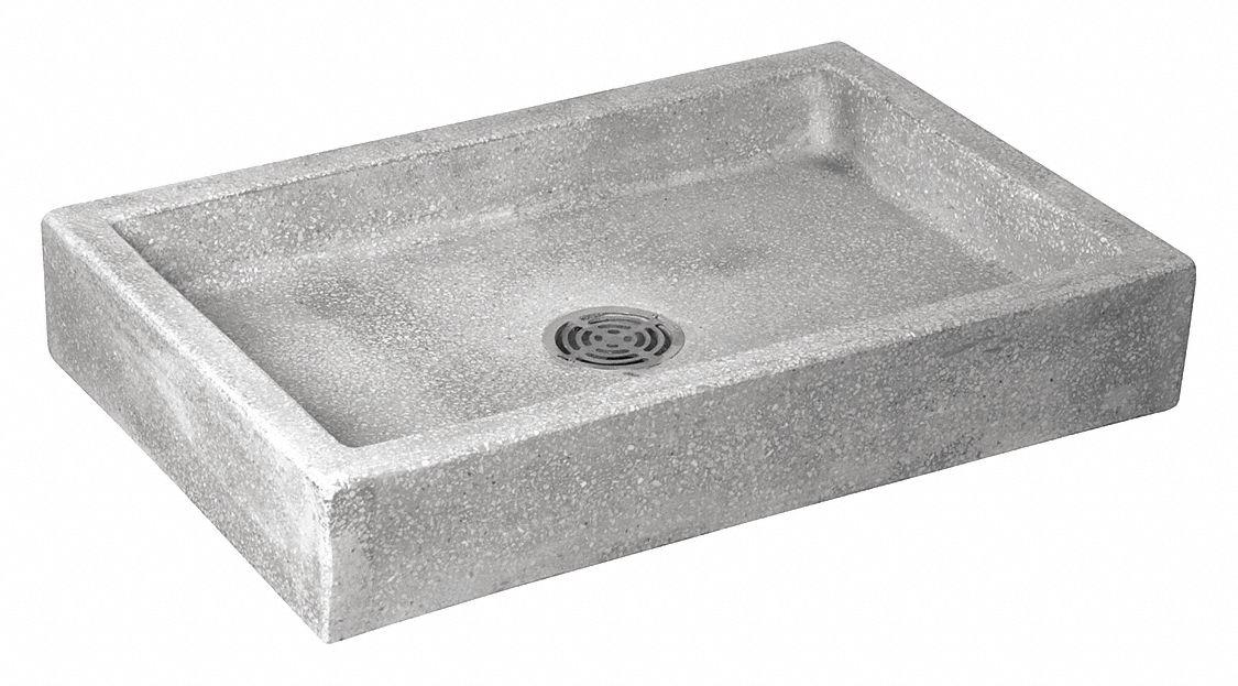 fiat products berkeley series 32 in x 20 in terrazzo mop service basin