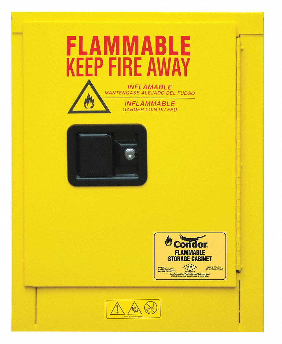 4 Gal Flammable Cabinet Manual Safety Cabinet Door Type 22 1 8 Height 17 3 8 Width