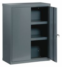 "EDSAL Storage Cabinet, Gray, 48"" Overall Height, Assembled ..."