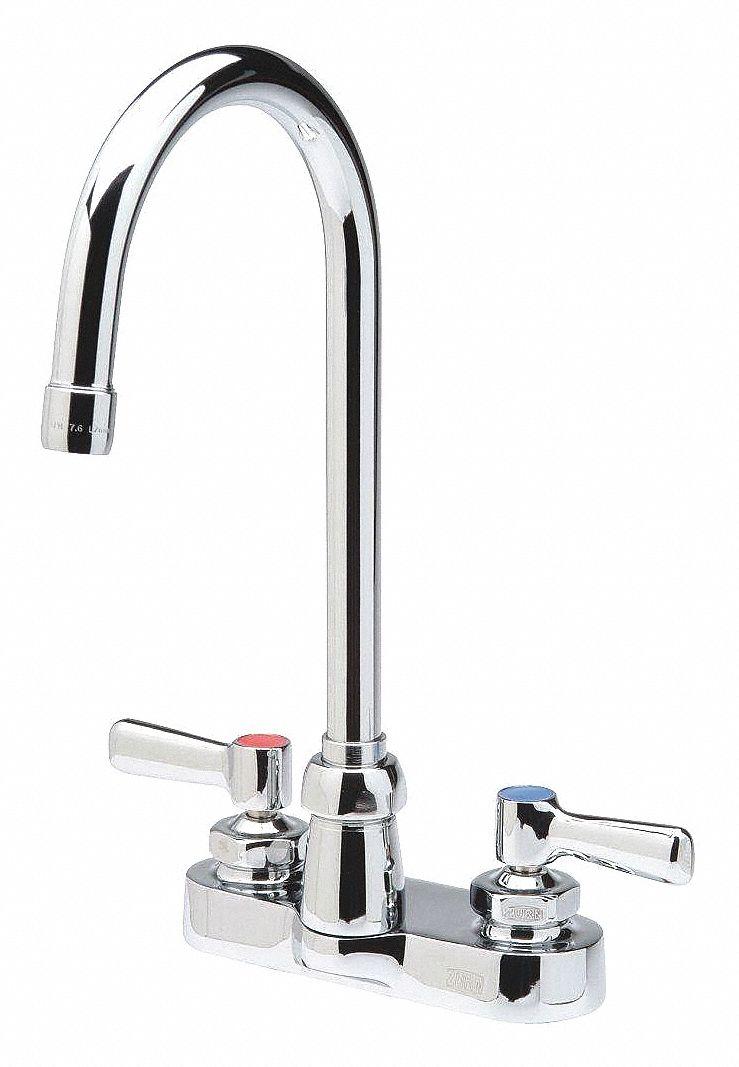chrome gooseneck bathroom sink faucet manual faucet activation 0 5 gpm
