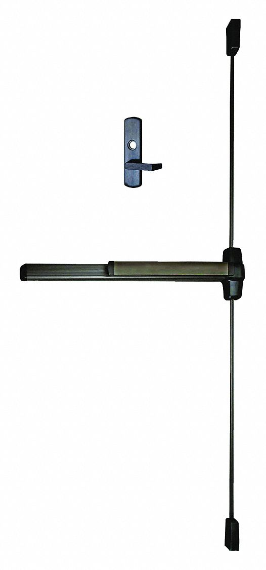 VON DUPRIN Exit Device, Series 99, Dark Bronze, Surface