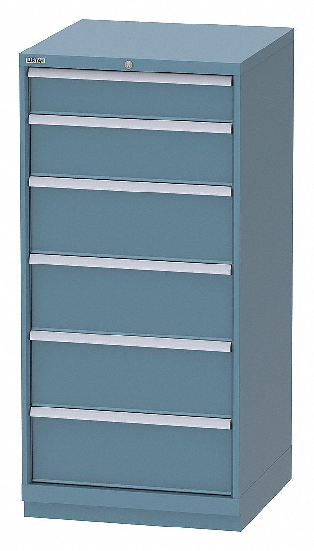 LISTA Stationary Full Height Modular Drawer Cabinet 6