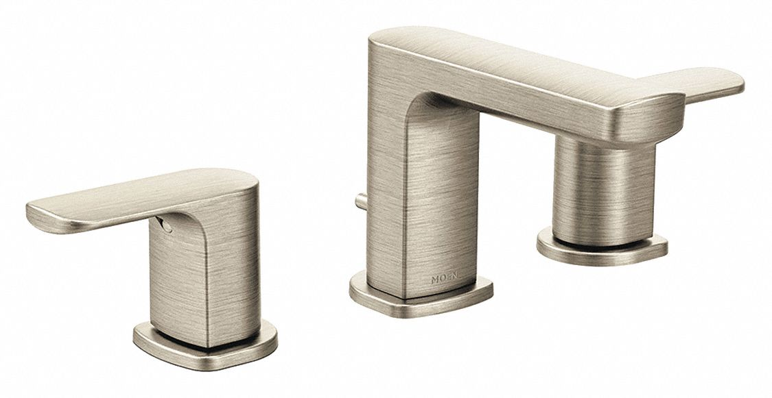 brushed nickel straight bathroom sink faucet manual faucet activation 1 2 gpm