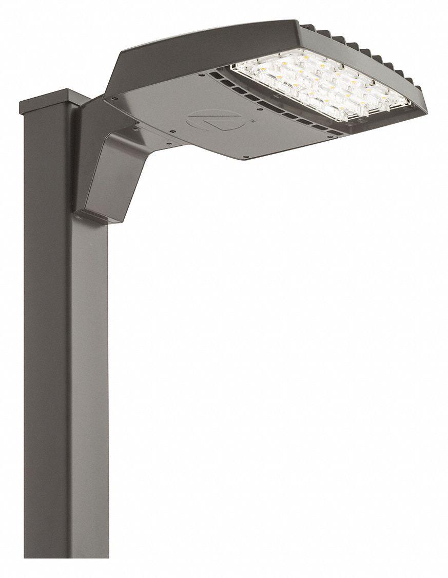 led parking lot light fixture 4 000 k color temperature 120 to 277v ac pole mount type