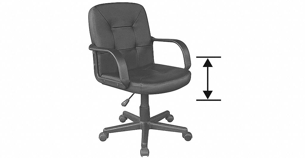 ergonomic chair grainger pop up office drafting and task chairs seating nominal seat height range