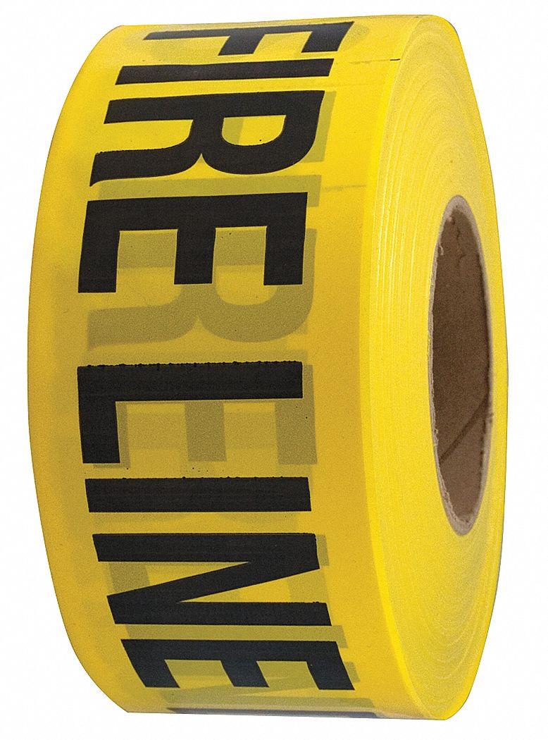 GRAINGER APPROVED Barricade Tape YellowBlack 3 X 1000