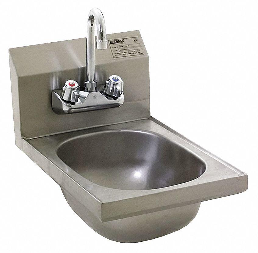 eagle hsa series series general purpose 1 stainless steel hand sink