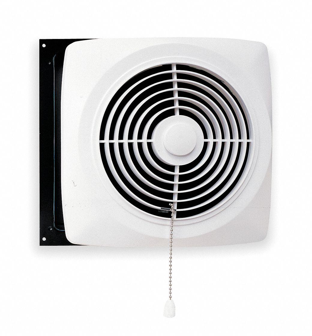 exhaust fan kitchen wall chain operated steel adj 4 1 2 to 9 1 2 in housing length in