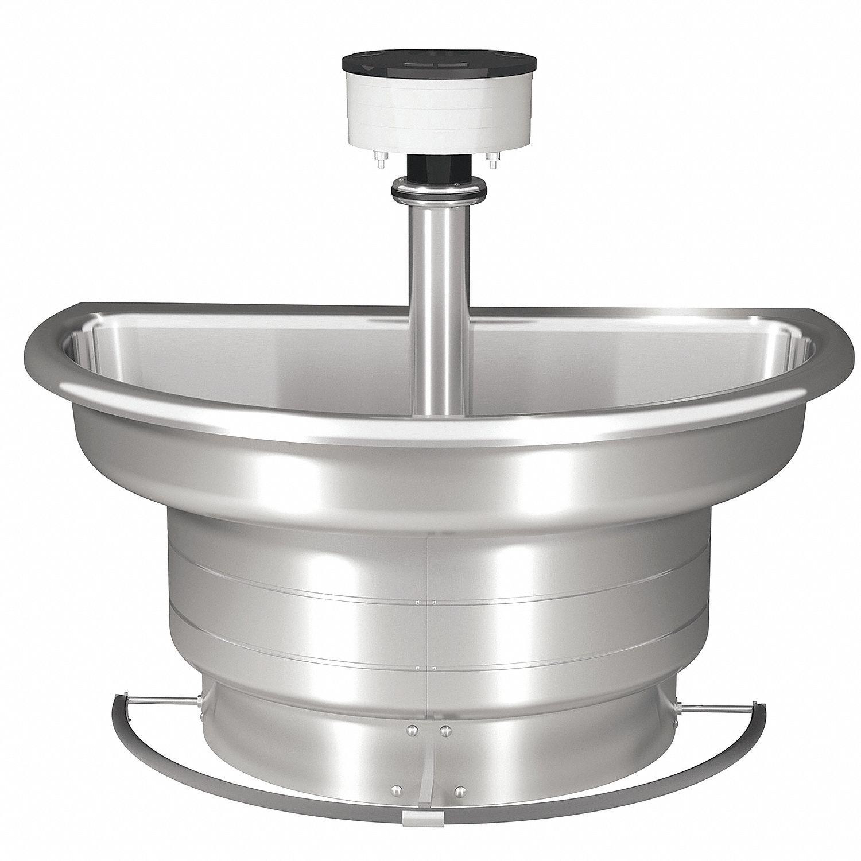 bradley stainless steel classic series 3 stainless steel semi circular foot push bar