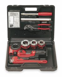 ROTHENBERGER Manual Ratchet Pipe Threader Kit For Pipes