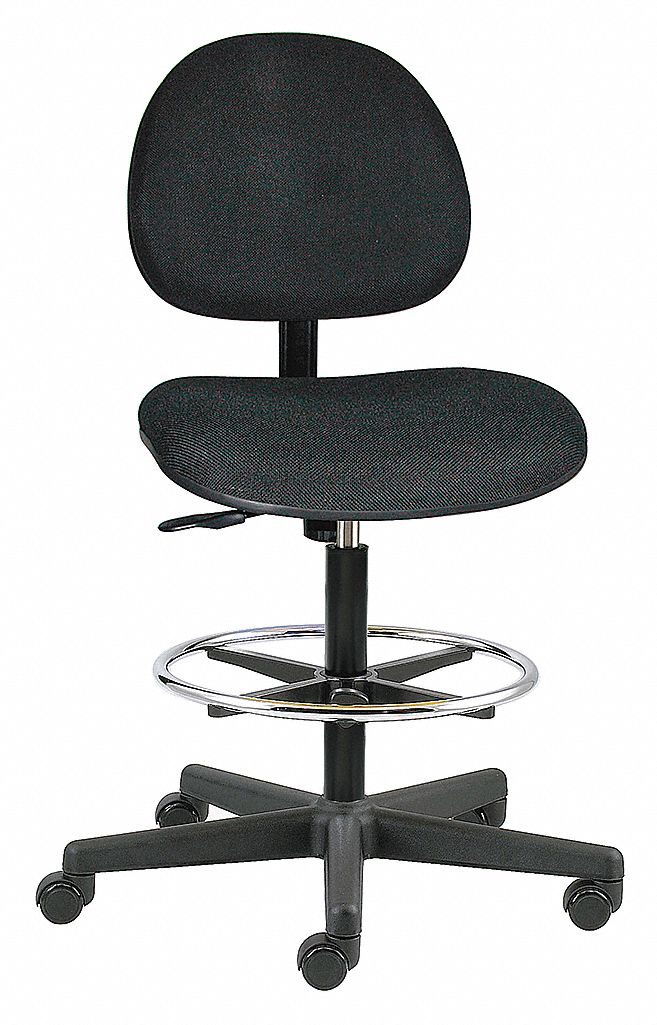 BEVCO Black Fabric Task Chair 15 Back Height Arm Style