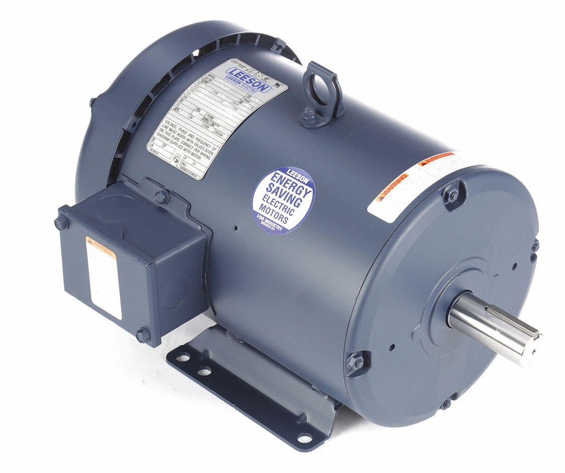hight resolution of leeson 5 hp 50 hz motor 3 phase 1425 nameplate rpm 220 380 440 voltage frame 184t 4guu8 131454 00 grainger