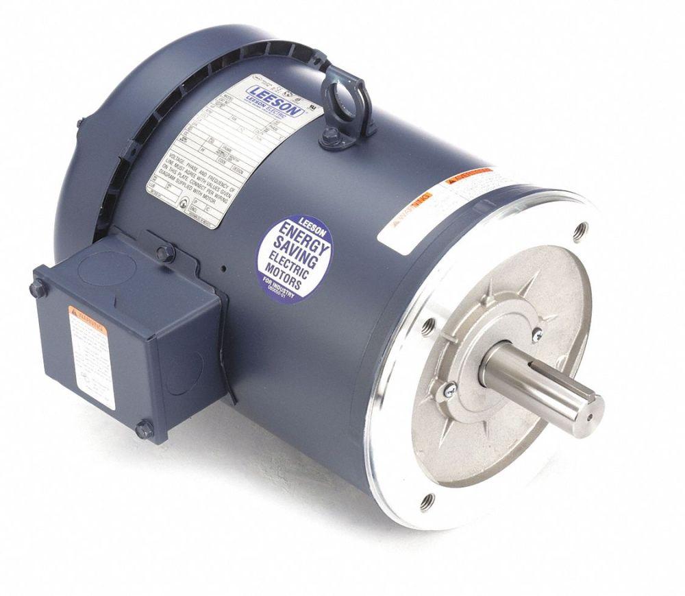 medium resolution of leeson 3 hp 50 hz motor 3 phase 1425 nameplate rpm 220 380 440 voltage frame 182tc 4gux1 131506 00 grainger