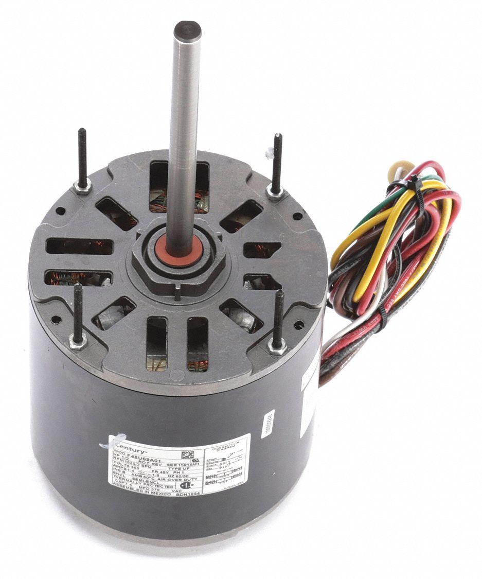 medium resolution of century 1 2 hp condenser fan motor permanent split capacitor 1625 nameplate rpm 460 voltage frame 48y 4mb95 bdh1054 grainger