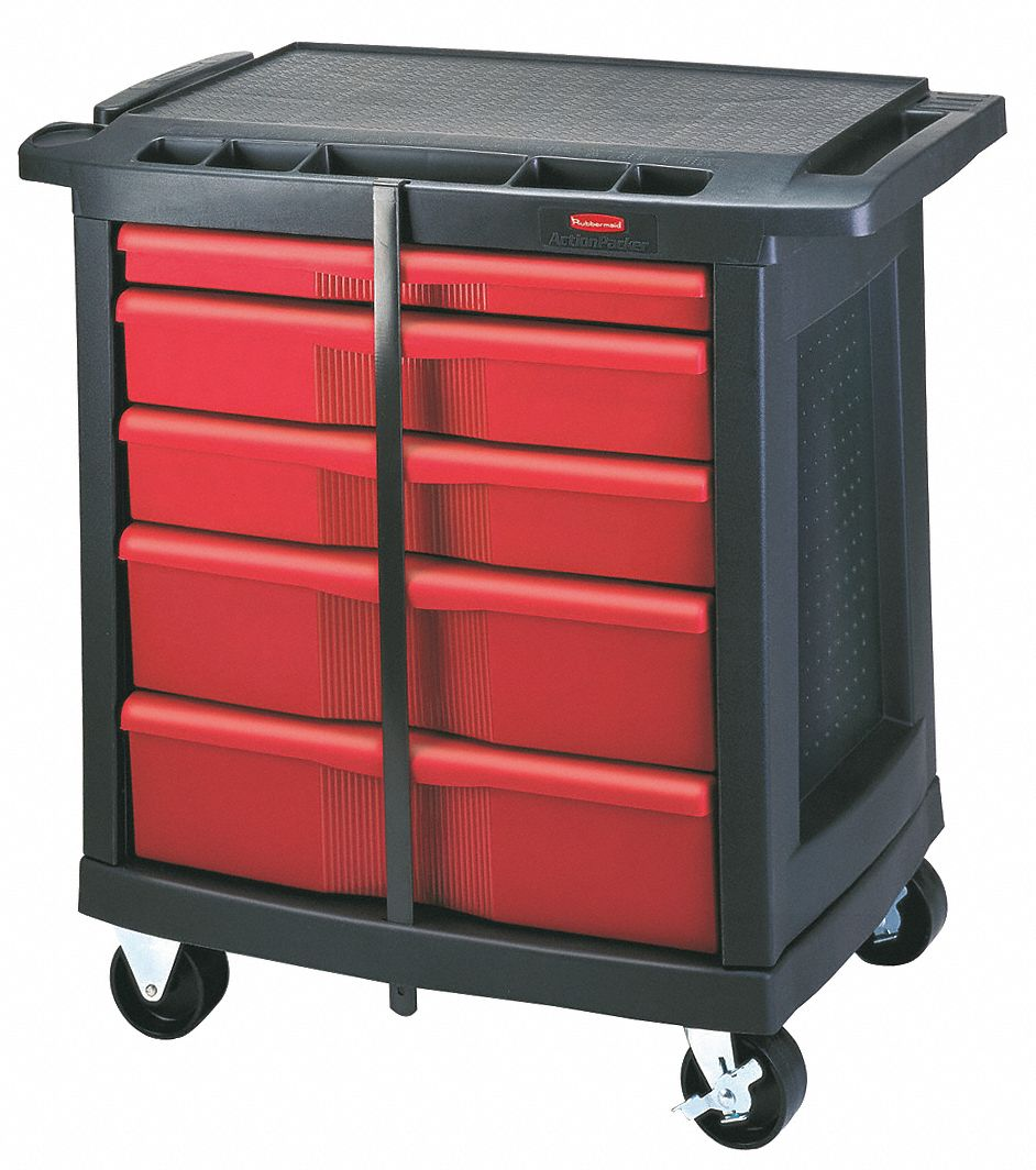 RUBBERMAID Mobile Cabinet Workbench Structural Foam