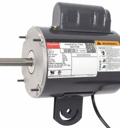 dayton 1 2 hp pedestal fan motor permanent split capacitor 1075 nameplate rpm 115 voltage frame 48yz 4ux63 4ux63 grainger [ 1125 x 994 Pixel ]