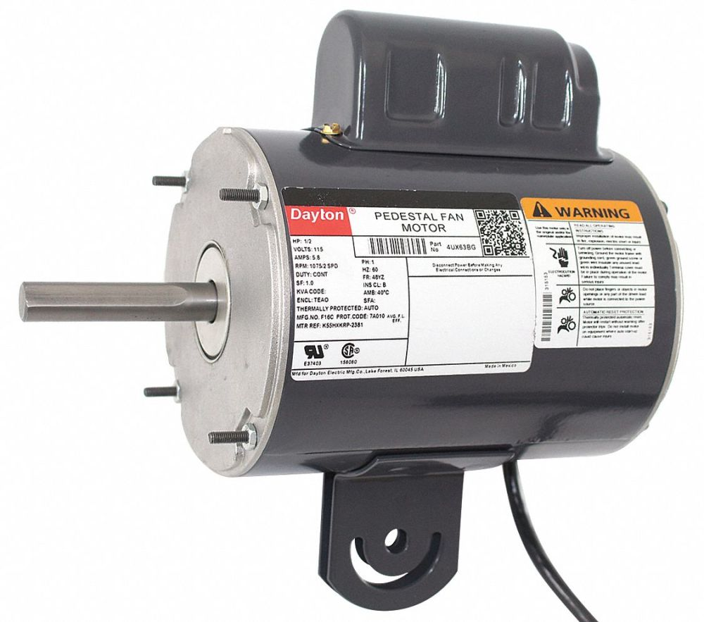 medium resolution of dayton 1 2 hp pedestal fan motor permanent split capacitor 1075 nameplate rpm 115 voltage frame 48yz 4ux63 4ux63 grainger