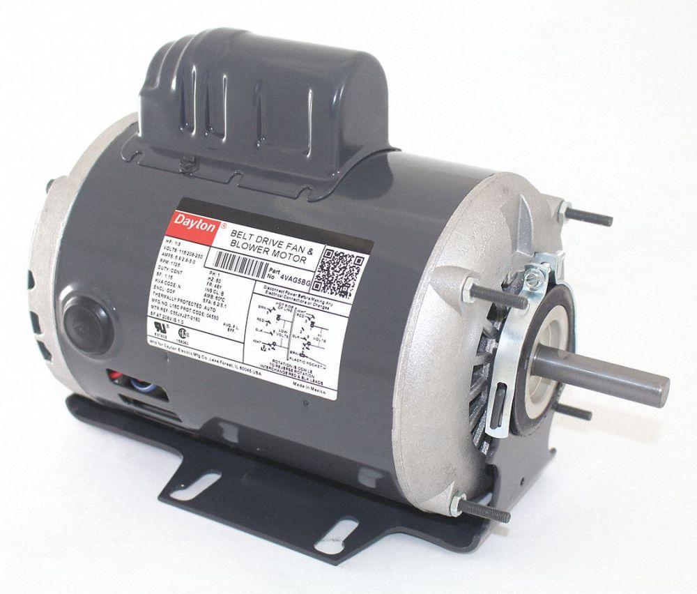 medium resolution of dayton 1 3 hp belt drive motor capacitor start 1725 nameplate rpm 115 208 230 voltage frame 48y 4vag5 4vag5 grainger