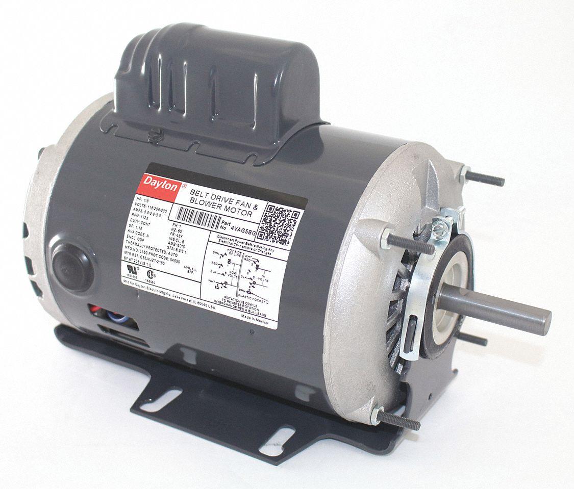 hight resolution of dayton 1 3 hp belt drive motor capacitor start 1725 nameplate rpm 115 208 230 voltage frame 48y 4vag5 4vag5 grainger