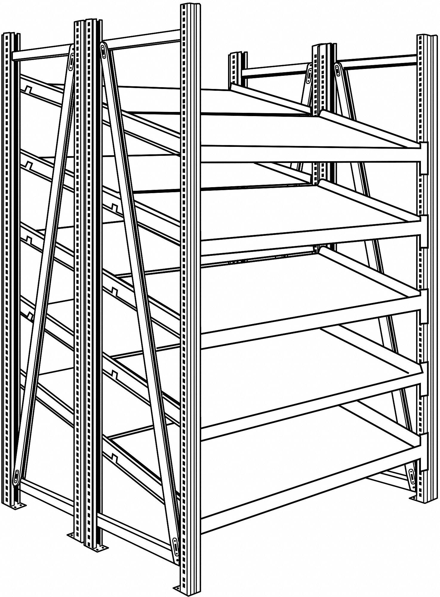 SSI SCHAEFER Boltless Shelving,Starter,78-1/2
