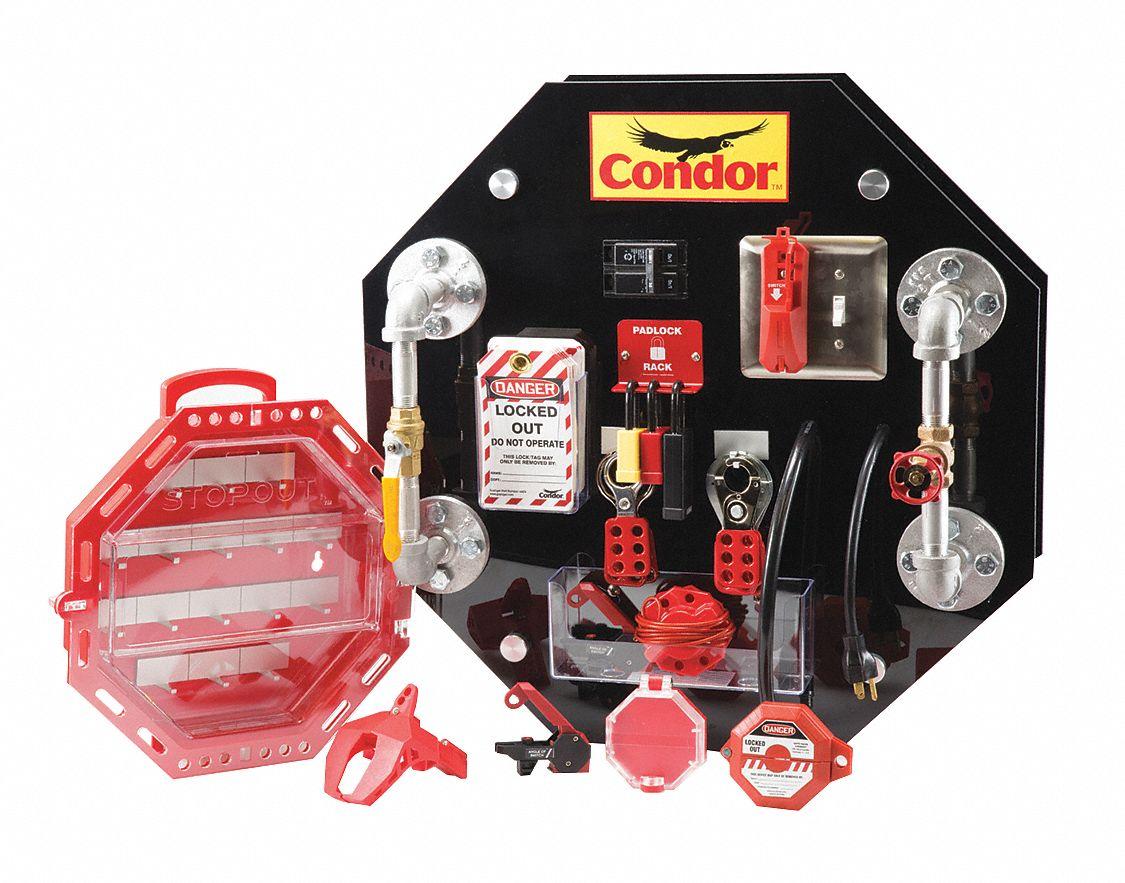 CONDOR LockoutTagout DemoTraining Board Kit For Use