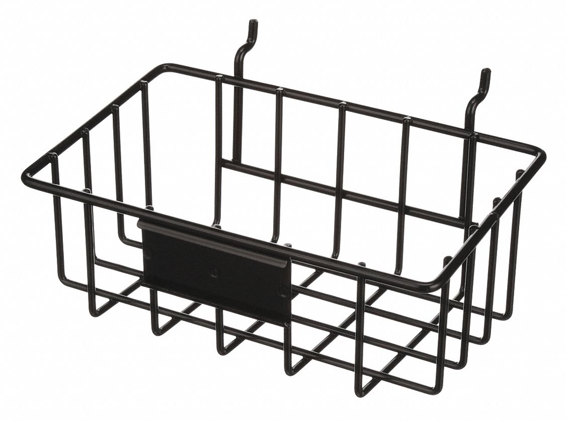 MARLIN STEEL WIRE PRODUCTS Wire Mounting Basket, Steel, 8