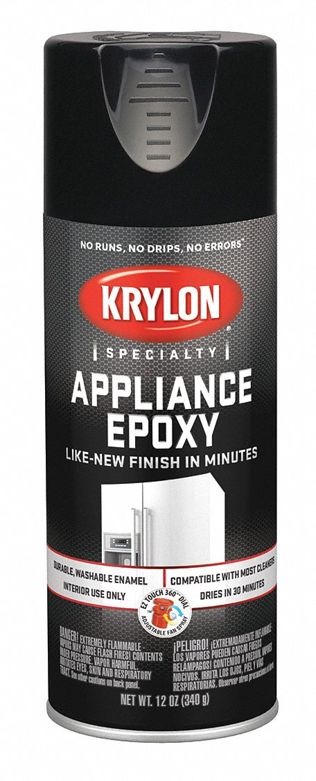Krylon Appliance Epoxy Spray Paint In Gloss Black For