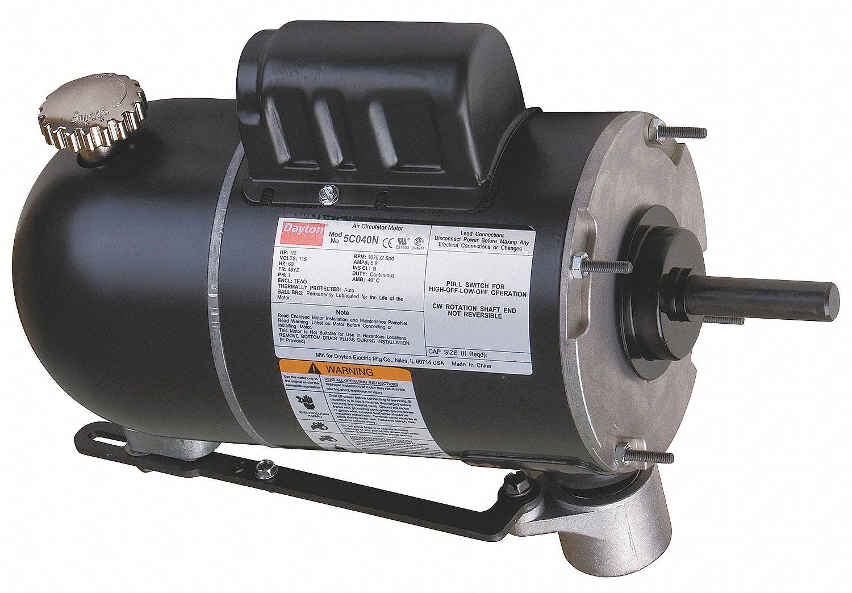 hight resolution of dayton 1 2 hp oscillating fan motor permanent split capacitor 875 1075 nameplate rpm 115 voltage frame 4 5c040 5c040 grainger