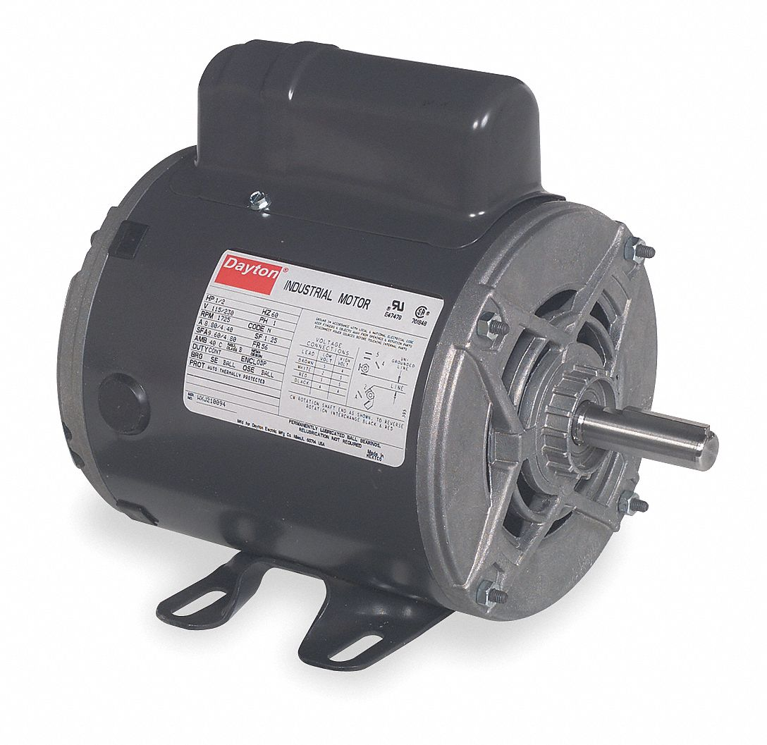 hight resolution of dayton 1 2 hp general purpose motor capacitor start 3450 nameplate rpm voltage 115 208 230 frame 56 5ukd0 5ukd0 grainger