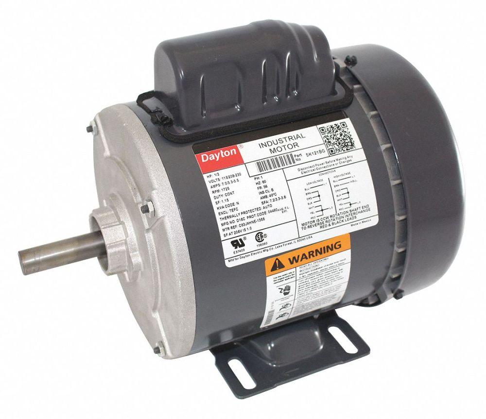 medium resolution of dayton 1 3 hp general purpose motor capacitor start 1725 nameplate rpm voltage 115 208 230 frame 56 5k121 5k121 grainger
