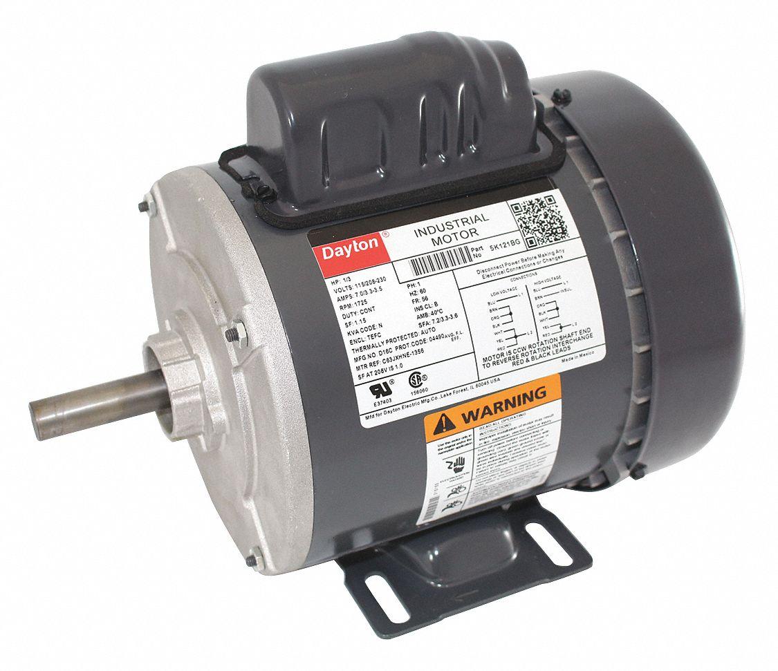 hight resolution of dayton 1 3 hp general purpose motor capacitor start 1725 nameplate rpm voltage 115 208 230 frame 56 5k121 5k121 grainger