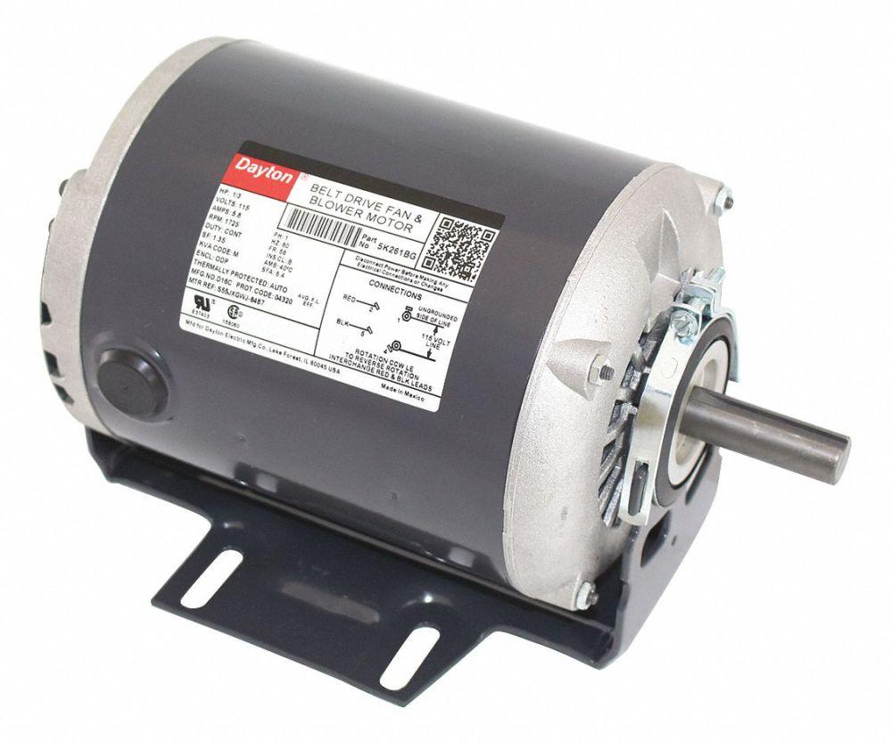 medium resolution of dayton 1 3 hp belt drive motor split phase 1725 nameplate rpm 115 voltage frame 56 5k261 5k261 grainger