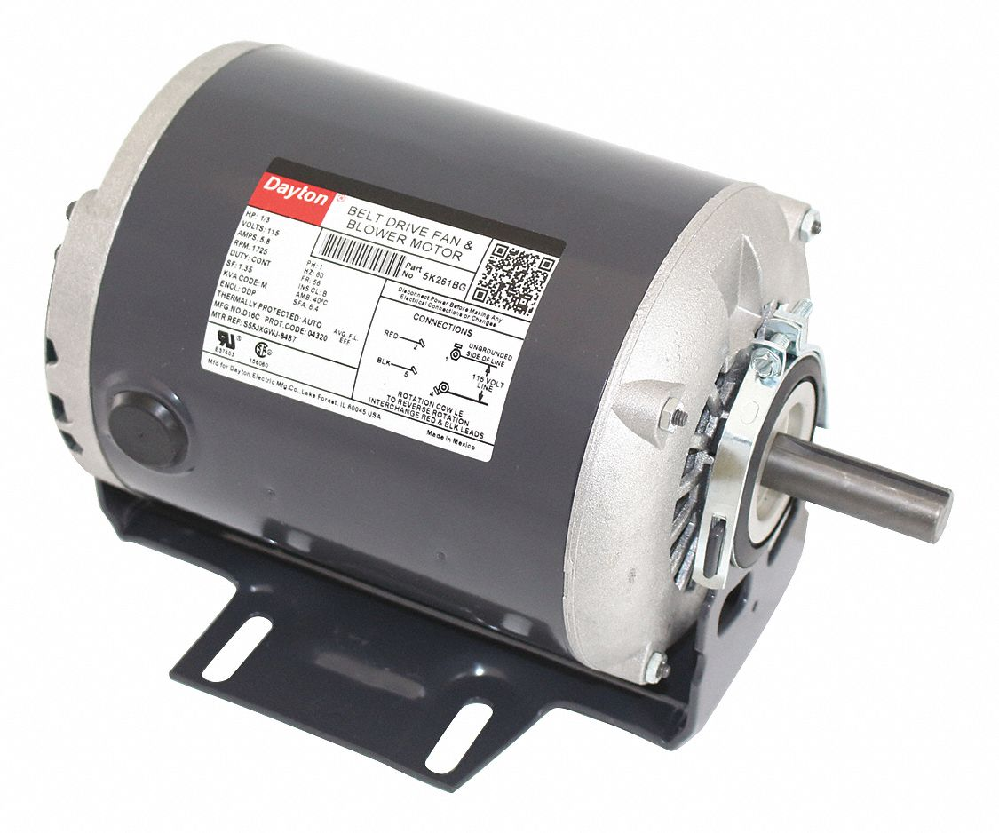 hight resolution of dayton 1 3 hp belt drive motor split phase 1725 nameplate rpm 115 voltage frame 56 5k261 5k261 grainger