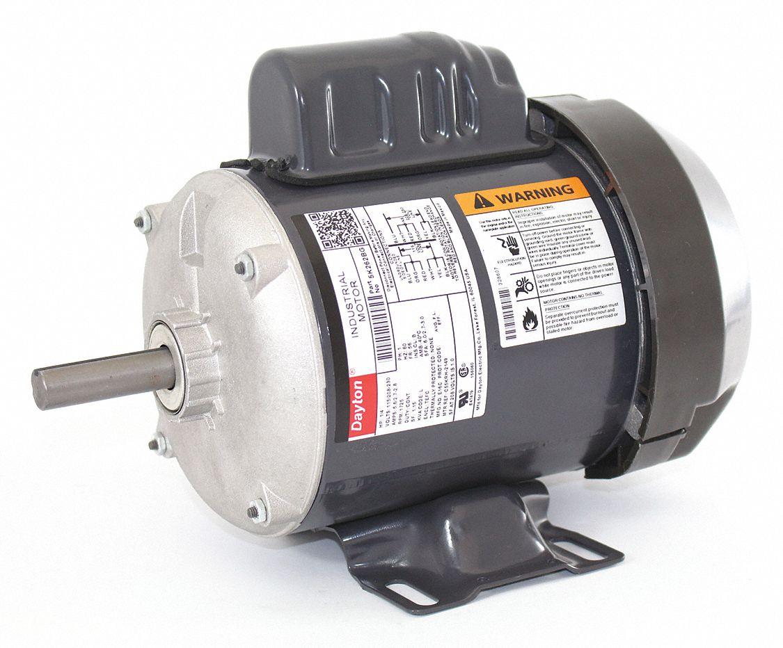 hight resolution of dayton 1 4 hp general purpose motor capacitor start 1725 nameplate rpm voltage 115 208 230 frame 56 5k262 5k262 grainger