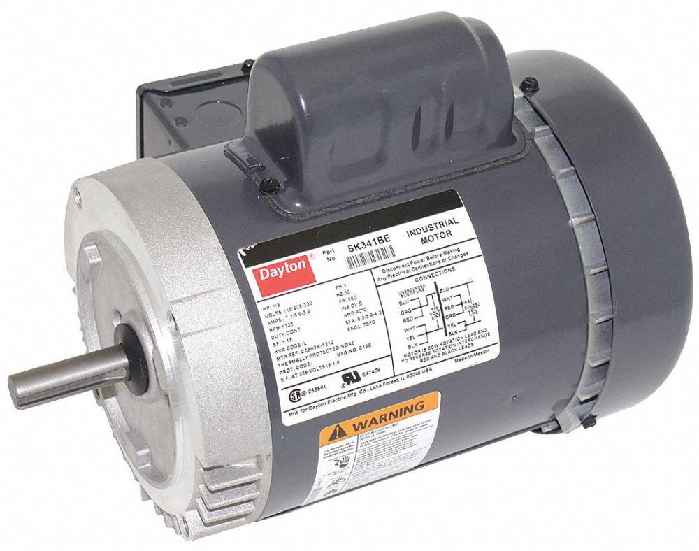 medium resolution of dayton 1 3 hp general purpose motor capacitor start 1725 nameplate rpm voltage 115 208 230 frame 56c 5k341 5k341 grainger