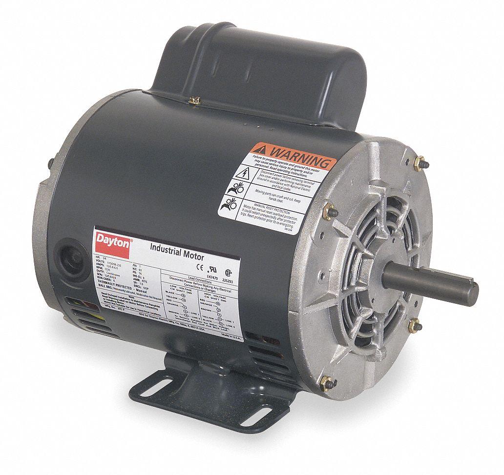 hight resolution of dayton 3 4 hp general purpose motor capacitor start 1725 nameplate rpm voltage 115 208 230 frame 56 5k460 5k460 grainger