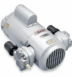 gast 1 2 hp piston air compressor vacuum pump 115 230vac 50 50 max psi cont int 5ka94 4lcb 251 m450x grainger [ 989 x 931 Pixel ]