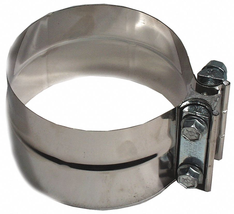 band clamp 304 stainless steel exhaust clamp for pipe size 3 1 2 in pk1
