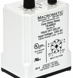 macromatic single function timing relay 120vac dc 10a 240v 8 pins dpdt 5wmj9 tr 60622 grainger [ 921 x 1195 Pixel ]