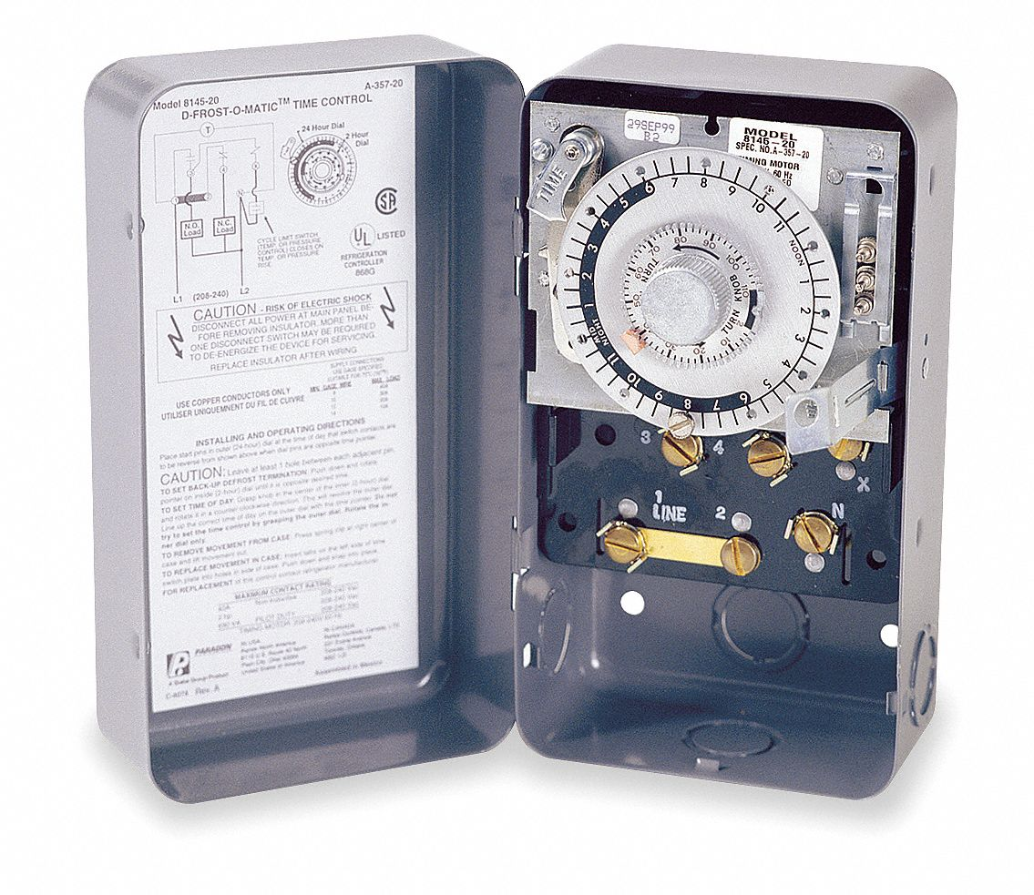 hight resolution of paragon defrost timer control 208 240vac voltage defrost time minutes 4 to 110 2 min increments 5x459 8145 20 grainger