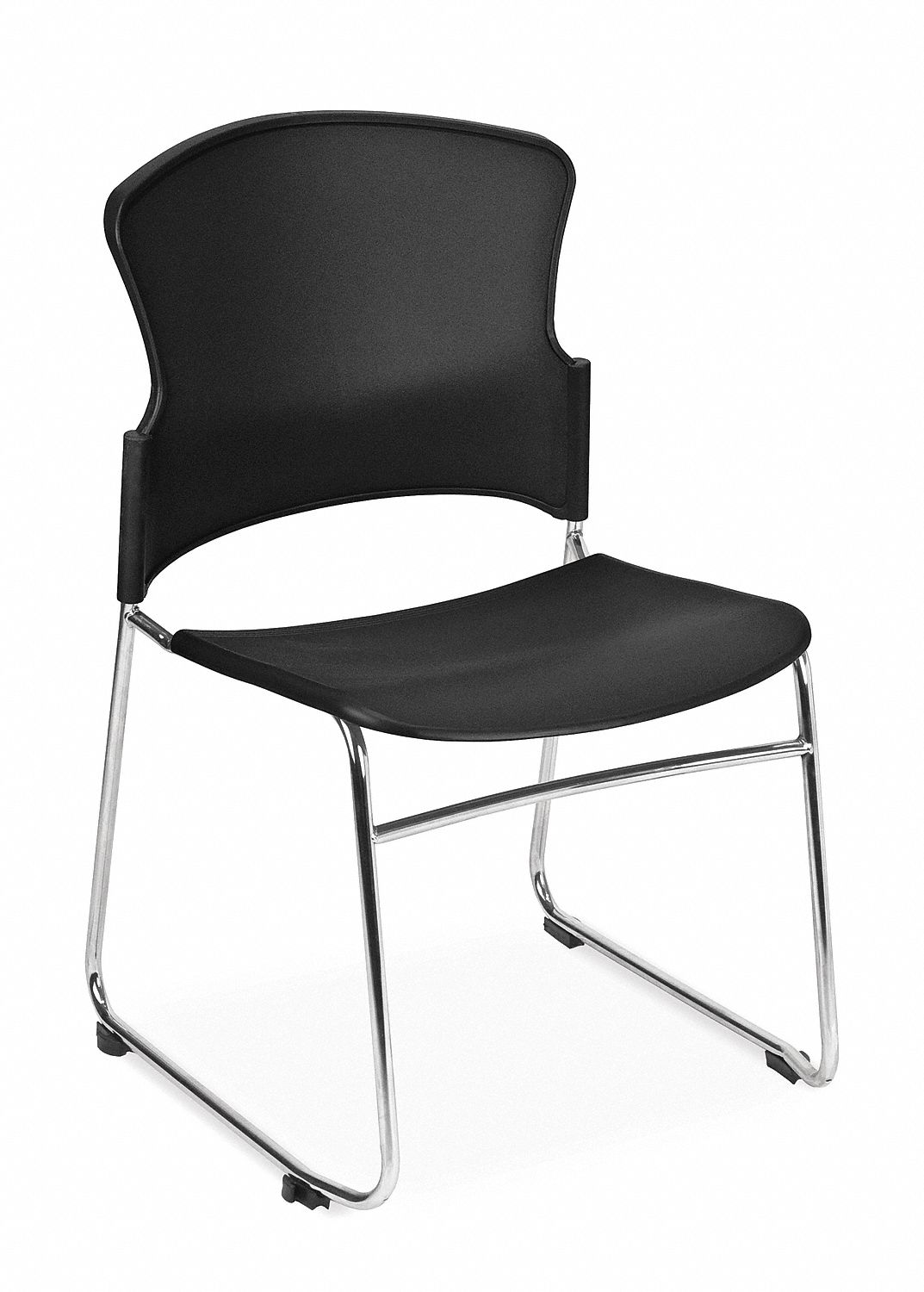 ergonomic chair grainger cover rentals pensacola fl ofm inc chrome steel stacking with black seat color