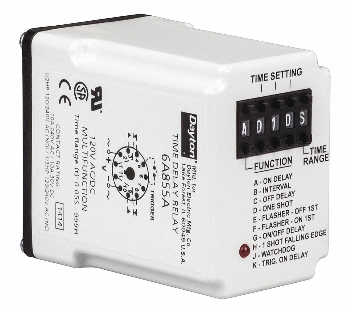 small resolution of zmmain dayton time delay relay 120vac 10a dpdt 6a855