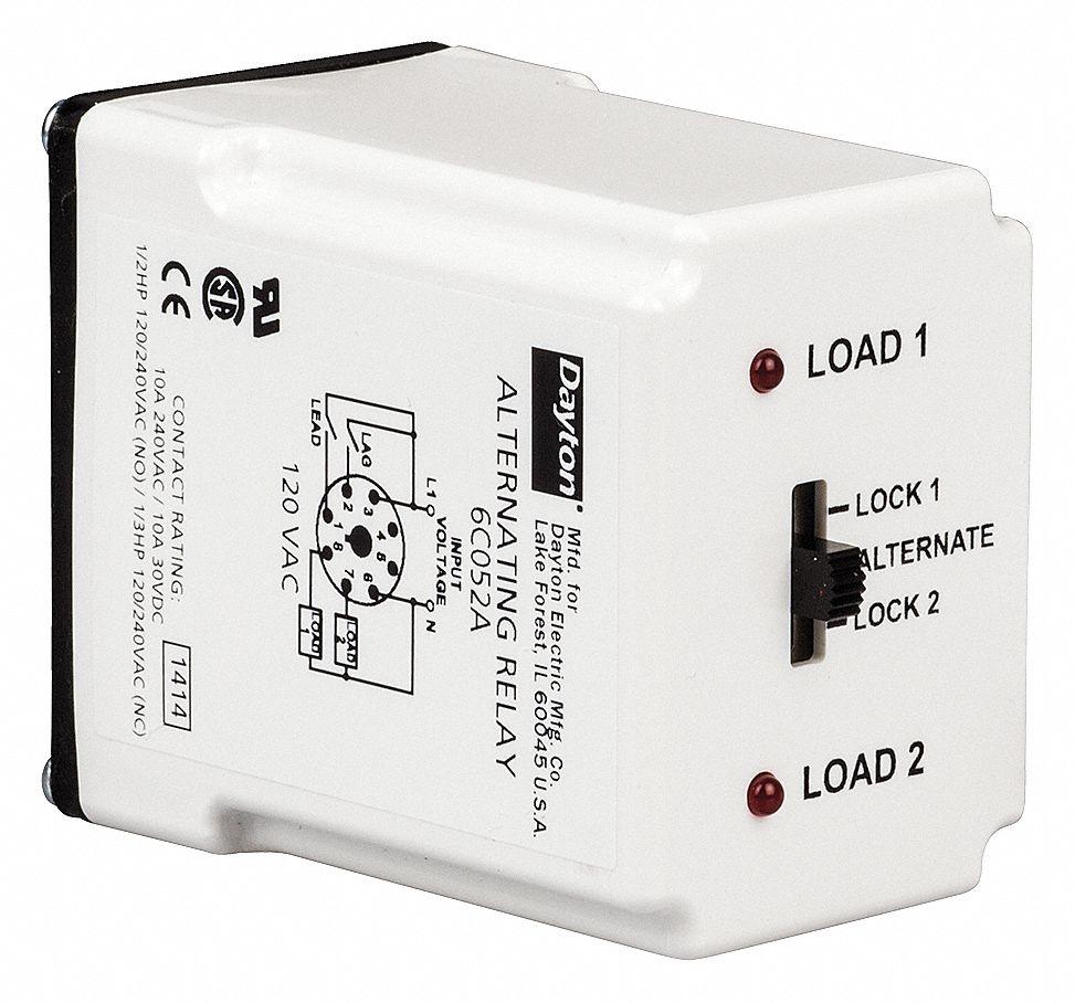 medium resolution of dayton alternating relay 120vac 10a 240v 10a 28v octal base type 8 pins 3 0va dpdt cross wired 6c052 6c052 grainger