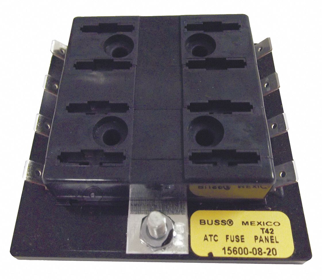 hight resolution of eaton bussmann 8 pole automotive fuse block ac not rated dc 32vdc 0 to 30a series atc 6cjf0 15600 08 20 grainger